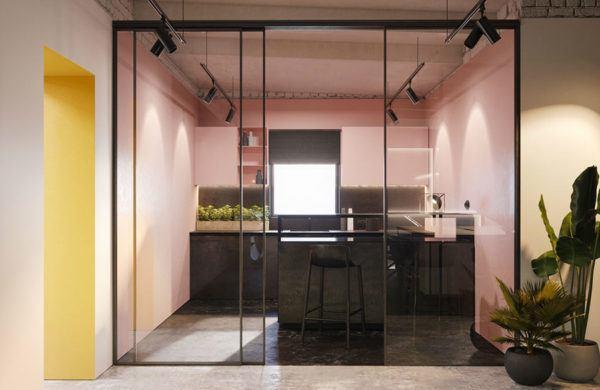 Cocinas rosas diseño de cocina rosa con negro