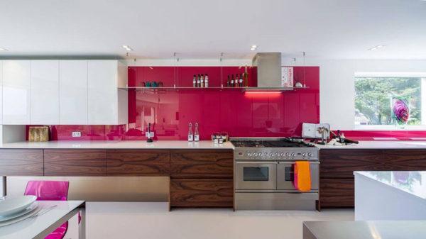 Cocinas rosas diseño de cocina rosa muebles madera