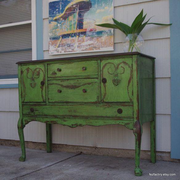 Decoraci n con pintura chalk paint c mo usarla para for Como pintar muebles a la tiza
