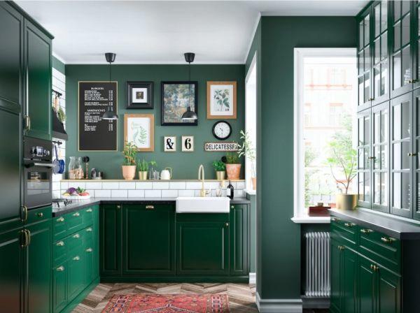 cocinas-baratas-verde-ikea