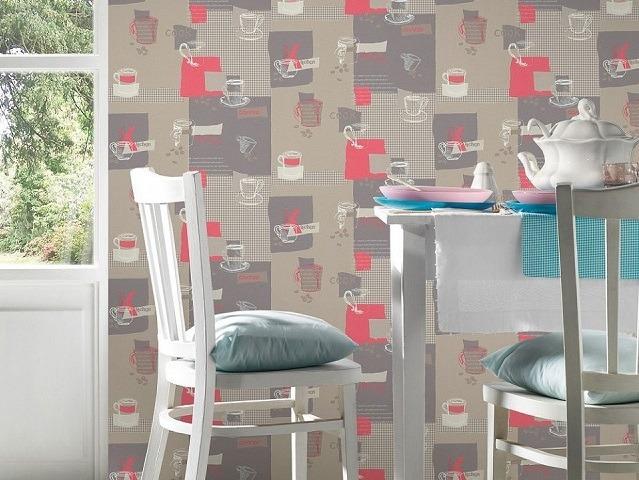 Papel pintado ideas de c mo decorar con papel pintado las paredes - Papel pintado en cocina ...