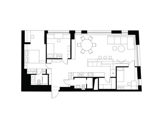 10 ideas de planos de casas o pisos de una sola planta for Planos de casas de una habitacion