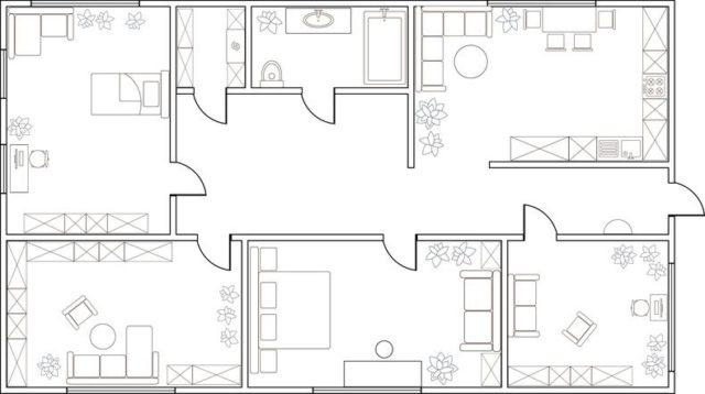 10 ideas de planos de casas o pisos de una sola planta for Planos de casas para construir de una planta