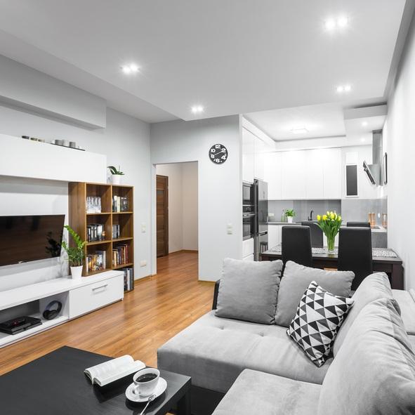 10 ideas de planos de casas o pisos de una sola planta - Planta de salon ...