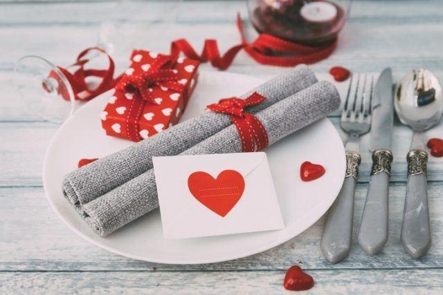 Carta de amor en el plato