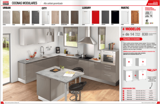 Brico Depot Cocinas 2019: Catálogo anual y ofertas - espaciohogar.com