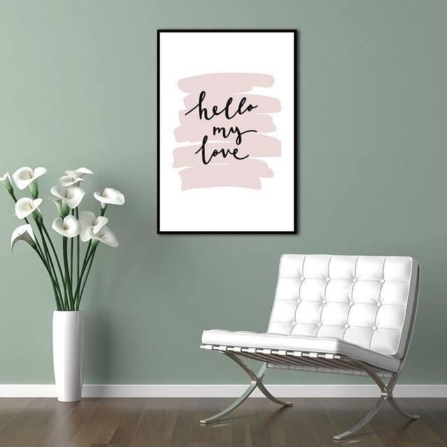 10 cuadros y vinilos con frases de amor para decorar - Vinilos para pared de dormitorio ...