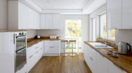 More than 100 photos of White, Modern Kitchen decorations