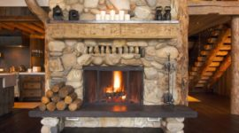 100 Photos with rustic fireplace ideas