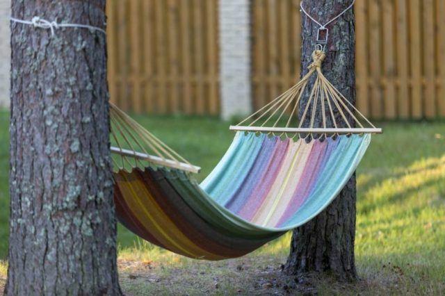 Ideas jardin pequeño hamaca