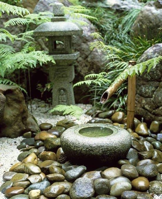 Jardines zen bambu