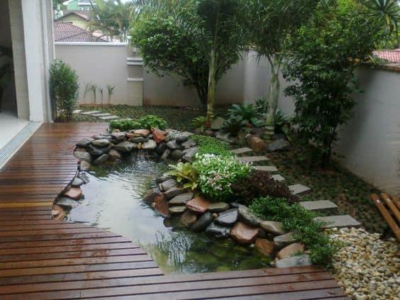 Jardines zen estanque