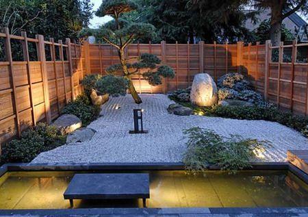 Jardines zen iluminacion