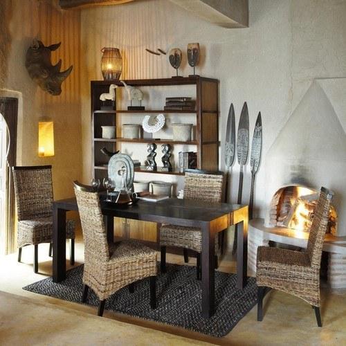 si la decoracin de tu comedor es de estilo extico una de las sillas que puedes encontrar en maison du monde es el modelo bengal una silla de abac