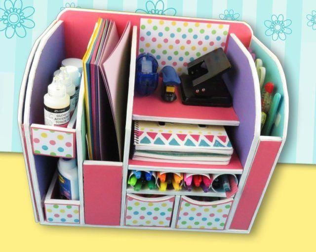 Cómo hacer un organizador de escritorio fácil y rápido