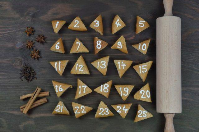 Calendarios de adviento hechos a mano galletas de la fortuna