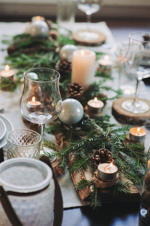 Como decorar la mesa en navidad con centros de mesa con velas