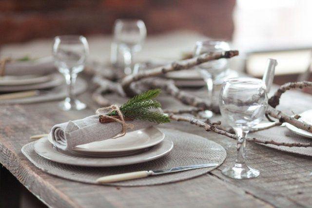 Como decorar la mesa en navidad estilo nordico madera