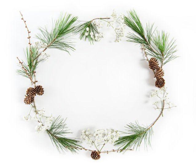 Coronas de navidad originales finitas