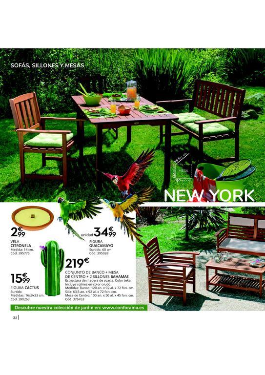 Muebles y decoración de jardín Conforama 2020