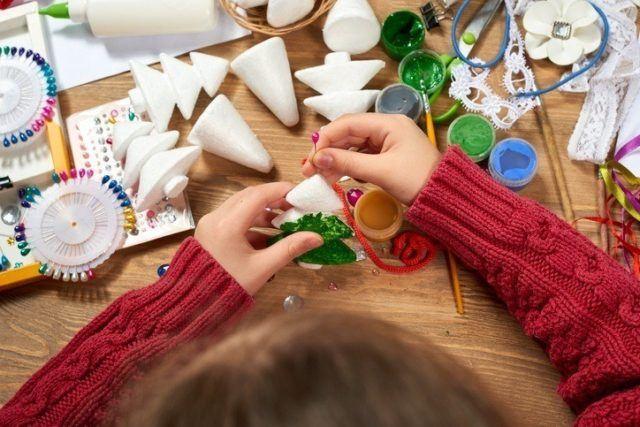 Manualidades para navidad con gomaespuma