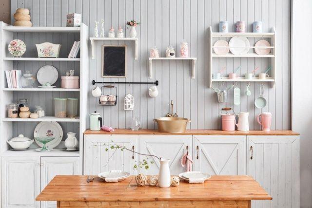 Como decorar estanterias cocina