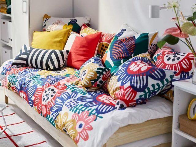 Ikea sommar 2019 funda de almohada verde//amarillo a rayas cojines funda 2-lanzar nuevo blanco