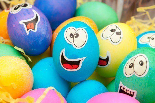 Como decorar huevos de pascua con cara