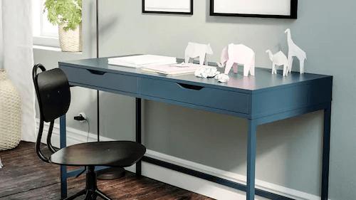 Decoracion oficinas escritorio pequeño ikea