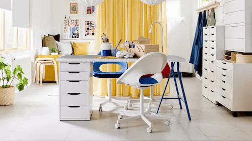 Decoracion oficinas escritorio sencillo ikea