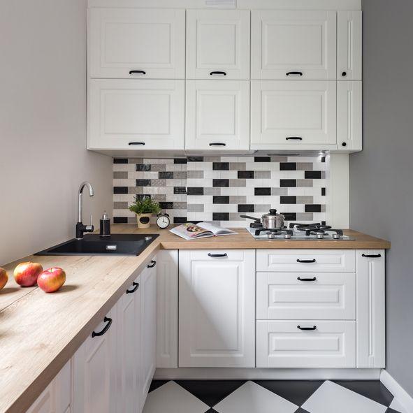 Cocinas pequenas 2019 estilo clasico