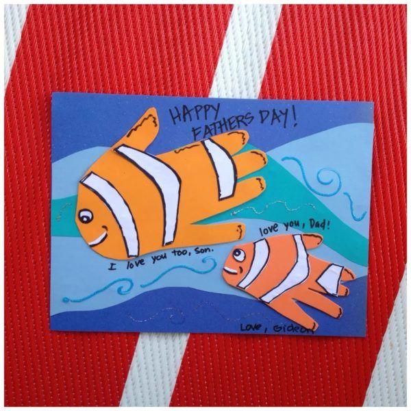 Regalos dia del padre tarjeta peces