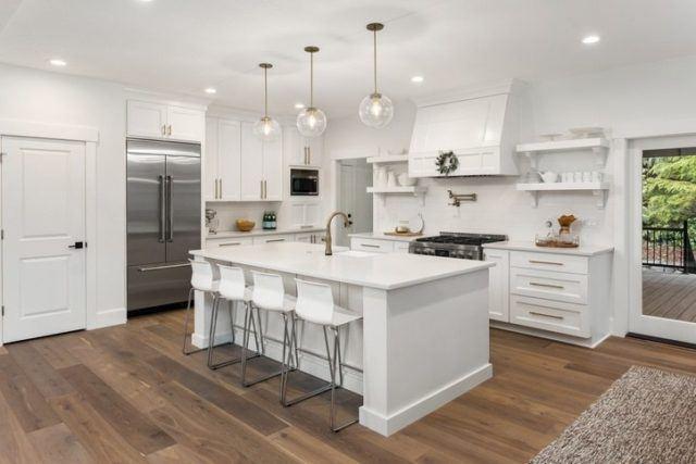 Cocinas modernas blancas 2019