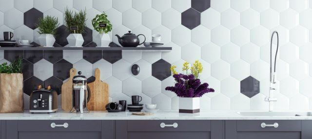 Cocinas modernas blanco y negro 2019