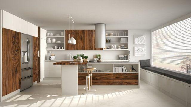 Cocinas modernas de madera 2019