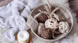 Cómo utilizar las cestas como decoración en el hogar