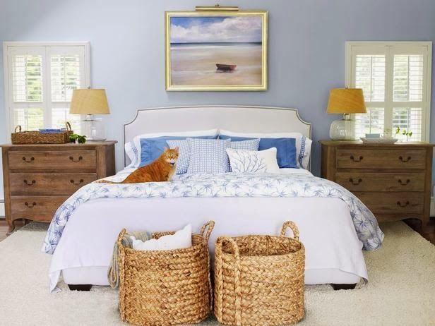 Cómo utilizar las cestas como decoración en el hogar dormitorio