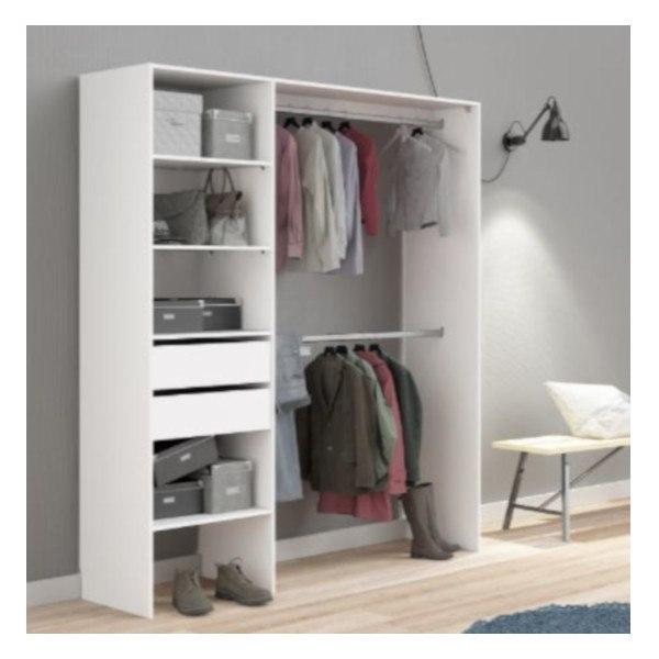 Brico depot catalogo armarios y almacenamiento kit vestidor blanco