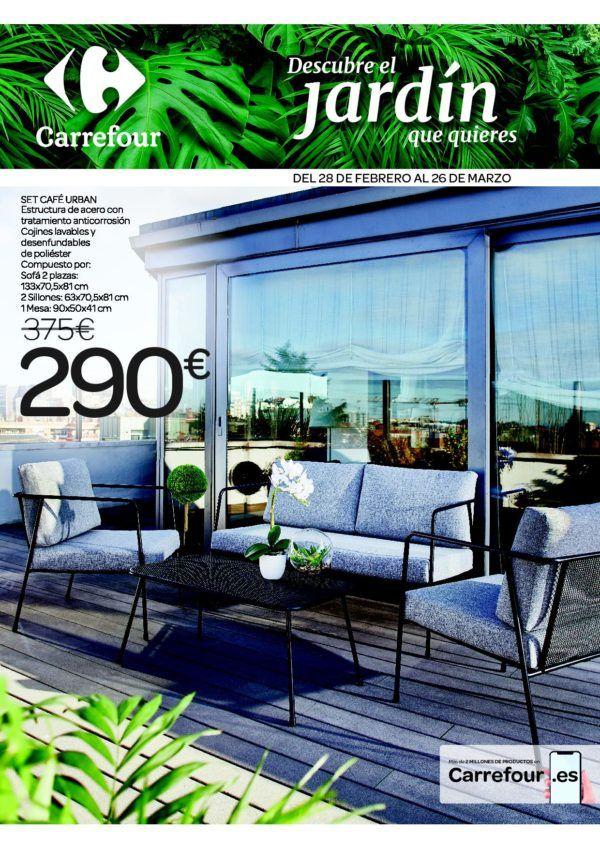 Catálogo Carrefour muebles de jardín 2020