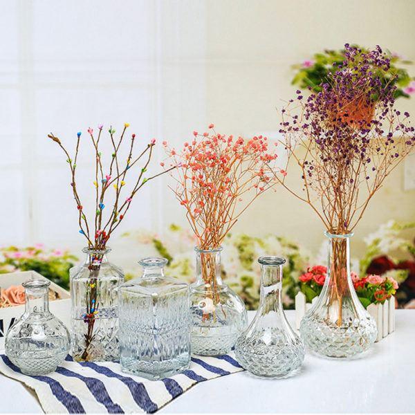 Centro de mesa para boda Centro ramas secas