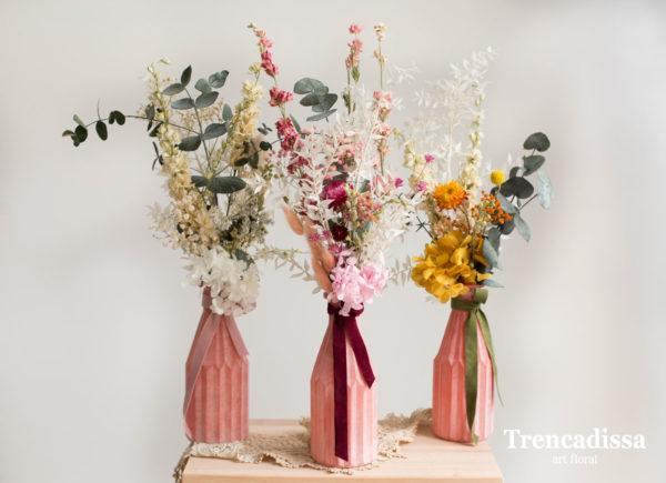 Centro de mesa para boda centro jarrones flores secas