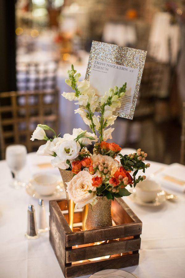Centro de mesa para boda centro madera