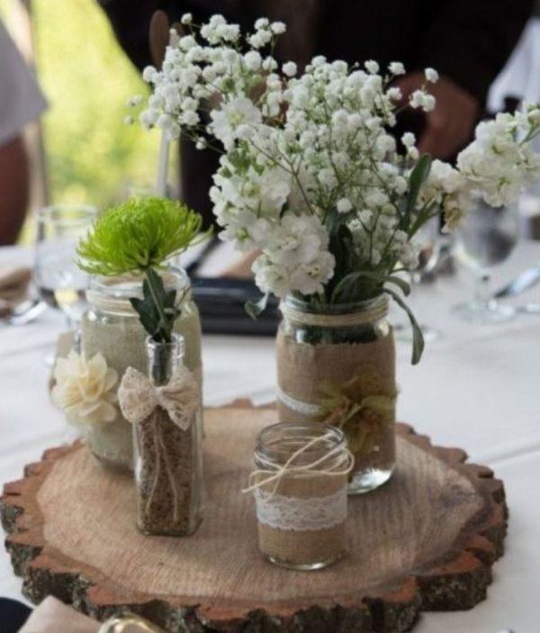 Centro de mesa para boda centro rustico