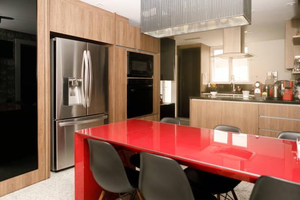 Colores para la cocina rojo mesa
