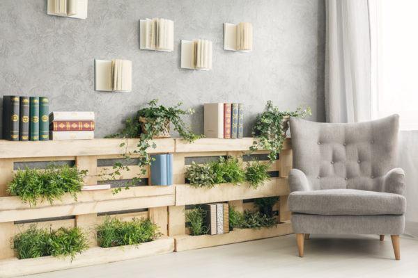 Muebles palet jardin vertical