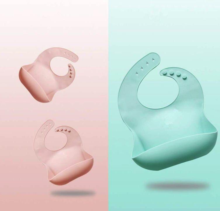 Baberos de silicona de Avril Tian (2 piezas)