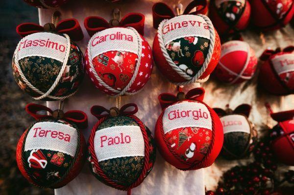 Bolas de navidad con nombre hechas a mano 2021