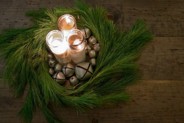 Centros de mesa navidad 2019 ramas de pino