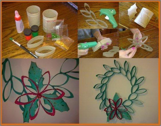 como-decorar-una-puerta-en-navidad-reciclado-corona-rollo-de-papel-vivirentotana