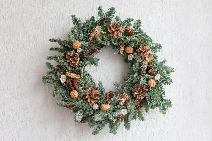 Coronas de navidad 2019 naturales con frutas